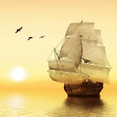 лодка в море — Стоковое фото