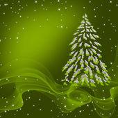 Card with Christmas tree — Stock Photo