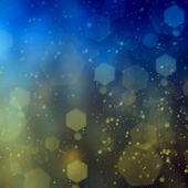 Blue and yellow bokeh background — Stock Photo