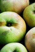 Green Apple background — Stock Photo