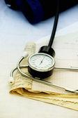 Stethoscope, blood pressure monitor — Stock Photo