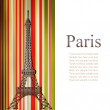 Stock Photo: Paris card