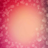 Abstract bokeh background with hearts — Stock Photo
