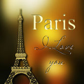 Paris card — Stock Photo