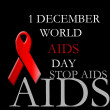 Stock Photo: 1st December world aids awareness day