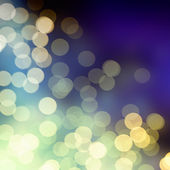 Blue light bokeh background — Stock Photo
