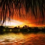 Landscape in orange tones — Stock Photo #34011887