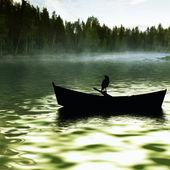 Paisaje del lago — Foto de Stock