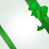 Green decoration bow — Stock Photo