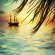 Stock Photo: Sailboat landscape