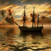 Sailboat on sea — Zdjęcie stockowe