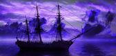 Sailboat on sea — Stock Photo