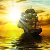 帆船 — 图库照片