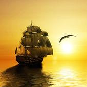 Ship in sea — Stock Photo