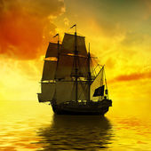 Ship in sea — Stockfoto