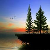 Beautiful sunset landscape — Stock Photo