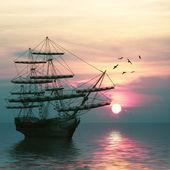 Ship on sea — Stock Photo