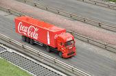 The Coca-Cola truck — Stock Photo