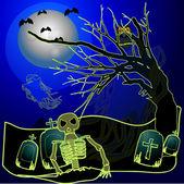 Halloween nacht in pennsylvania — Stockvector