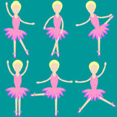 Dancers of ballet — Vector de stock
