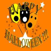Indicating masks halloween celebration — Stock Vector