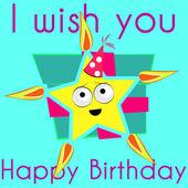Birthday Star — Vetorial Stock