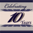 Anniversary celebration card — Imagen vectorial