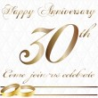 Thirty year anniversary — Stock Vector