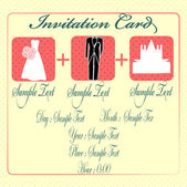 Marriage invitation card to a church suits — Stock Vector
