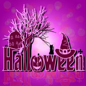 Decoration for hallowen night — Stock Vector
