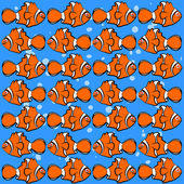 Fish for decoration and color orange — Stock Vector