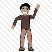 Furious young man — Stock Vector