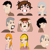 Group of angry people — Stock Vector