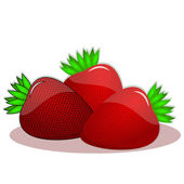 Fresh and healthy strawberries — Stock Vector