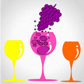A good wine grape — Stock Vector