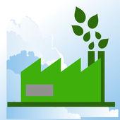 Industria ecológica — Vector de stock
