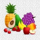 Healthy fruit 2 — Stock Vector