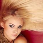 Beautiful blonde young woman — Stock Photo