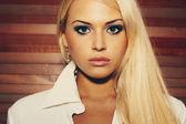 Beautiful blonde Business woman — Stock Photo