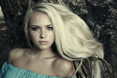 Beauty blond woman — Stock Photo
