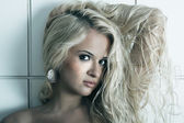 Beauty young blond woman — Stock Photo
