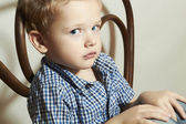 Child. Sad little boy.Fashion Children.Emotion — Stock Photo