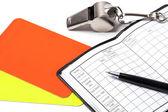 Referee Accessories - Stock Photo — Stockfoto