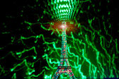 Tower Eiffel painted with lights — Stock Photo