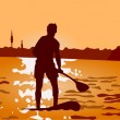 Stand up paddling — Stock Vector