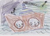 La nave con pasajeros — Foto de Stock
