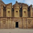 Stock Photo: Panoramic shot of Monastery Ad-Deir in Petra, Jordan.