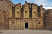 Panoramic shot of the Monastery Ad-Deir in Petra, Jordan. — Photo