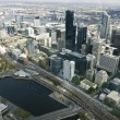 Beautiful cityscape of Melbourne, Australia. Aerial view from sk — Stock Photo