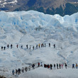 Trekking on the Perito Moreno glacier, Argentina. — Stock Photo